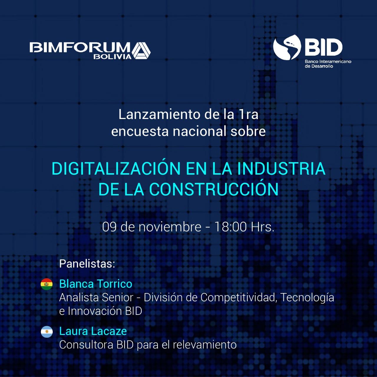 Lanzamiento: 1era encuesta nacional sobre Digitalización en la Industria de la Construcción